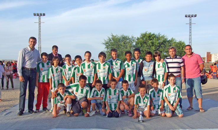 El equipo alevín de futbol 7 de Escalona, campeón comarcal