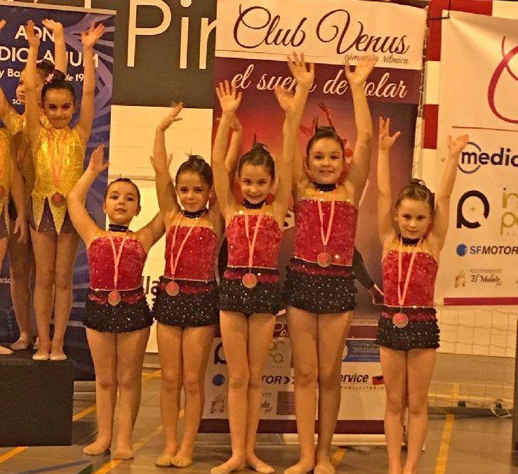 Debut del grupo de competición de Gimnasia Rítmica de las Escuelas Deportivas en el XXVI Torneo Nacional del Club Venus
