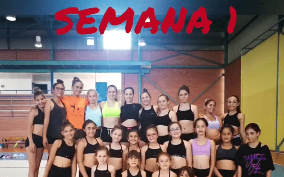 Montaje de vídeo sobre el Campus de Gimnasia Rítmica del pasado verano