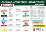 Escuelas Deportivas Municipales 2020 - 2021 - Concejalía de Deportes del Ayuntamiento de Escalona