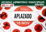 Aplazado inicio de las Escuelas Deportivas Municipales 2020 - 2021 - Concejalía de Deportes del Ayuntamiento de Escalona
