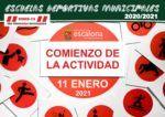Nueva fecha del comienzo de las Escuelas Deportivas Municipales 2020 - 2021 - Concejalía de Deportes del Ayuntamiento de Escalona