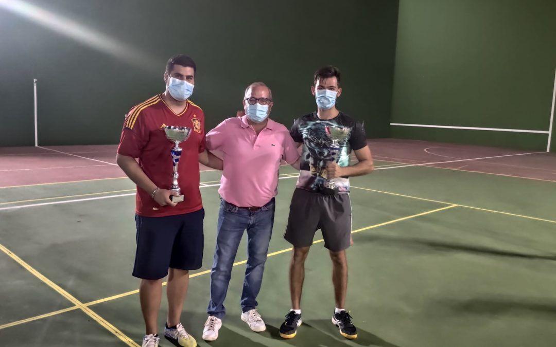 Pascual Recio y Javier García, campeones del Torneo de Frontenis 2021